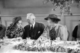 Tallulah Bankhead with members of the Atlanta Woman's Club, during a luncheon for retiring...