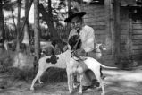 "South Carolina Senator Ellison DuRant Smith, ""Cotton Ed"" Smith with hunting dogs, South..."