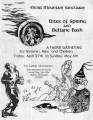 "Rites of Spring and Beltane Bash, flyer for ""a Faerie gathering for wimmin, men, and..."