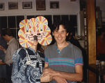 "Raven Wolfdancer, celebrating his birthday with a ""masked"" Jeff Glauser, Atlanta,..."
