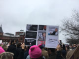 Poster showing misogynist statements made by Donald Trump, Women's March on Washington, 2017-01-21
