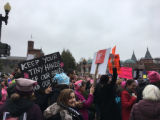 Keep Your Tiny Hands Off Our Bodies And Our Rights sign, Women's March on Washington, 2017-01-21
