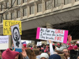 As for my Girls, I will raise them to think they breathe Fire sign, Women's March on Washington,...