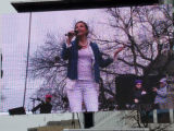 Ashley Judd on television monitor, Women's March on Washington, 2017-01-21