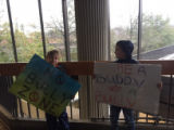 No Bully Zone and Be a Buddy, Not a Bully signs, Atlanta March for Social Justice and Women,...