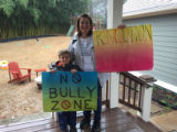 No Bully Zone and Revolution signs, Atlanta March for Social Justice and Women, 2017-01-21