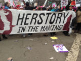 Herstory In The Making banner, Women's March on Washington, 2017-01-21