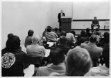 Arnold Miller presenting to group lead by M. H. Ross, circa 1970s