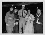 Tour group with mine foreman at Consolidation Coal Company's Mine 32 in Owens, West Virginia,...