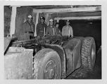 Tour group viewing equipment at Consolidation Coal Company's Mine 32 in Owens, West Virginia,...