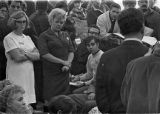 Miners' families waiting for information after Farmington Mine Disaster, 1968-11