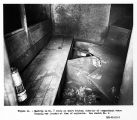 Mantrip in No. 7 entry at shaft bottom, interior of compartment where Krupzig was located at time...