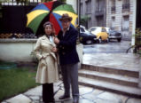 Ginger and Johnny Mercer and a colorful umbrella