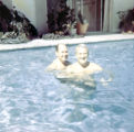 Johnny Mercer in swimming pool