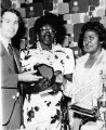 Dorothy Bolden presenting award at Maids Honor Day event, circa 1970s
