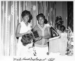 Dorothy Bolden at Maids Honor Day Banquet, 1970-07