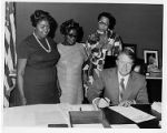 Jimmy Carter signing Maids Honor Day Proclamation, 1970