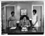 Atlanta Mayor Maynard Jackson signing Maids Honor Day Proclamation with Dorothy Bolden, circa 1970s