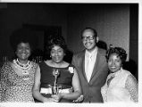 National Domestic Workers Union member receiving award, circa 1970s