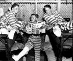 Convicts with broken legs in casts in bunk-beds at Dallas, Georgia prison.