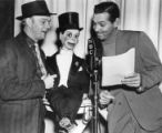 Clark Gable with Edgar Bergen and Charlie McCarthy