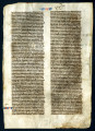 Bible. Exodus. Latin. Vulgate. Manuscript leaf, 13th century.