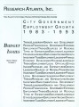 City government employment growth, 1983-1993