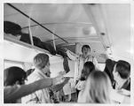 Students on a bus trip to New Orleans for Mardi Gras, circa 1960s