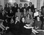 Pickett Riggs and other students at a Hilarian Society party, 1940-02-08